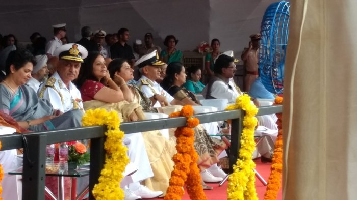 Adm S Lanba CNS & Mrs Reena Lanba at the launch ceremony along with other dignitaries